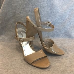 Gianni Bini Patent Leather Latte  sandal